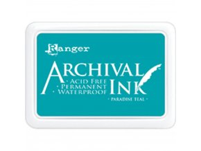 Razítkovací barva RANGER / Archival - PARADISE TEAL