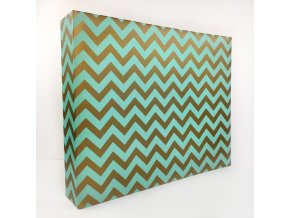 "SCRAPBOOKOVÉ ALBUM 12""X12"" - CHEVRON MINT"