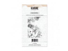tampon clear intemporelle feuilles en detail les ateliers de karine