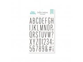 LBL0135 Sello acrílico 15x20 cm colección ALFABETO THIN