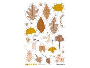PA0979 samolepky zlate listy