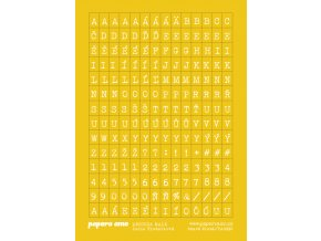ABECEDA MALA samolepky papir žlutá 01