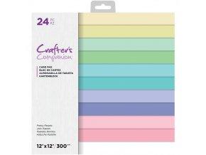 """Sada jednobarevných papírů 12""""x12"""" - PRETTY PASTELS"""