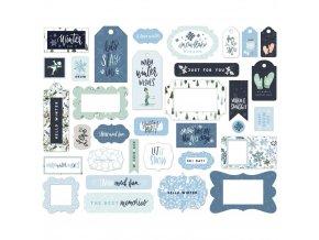 Papírové výseky - WINTER MARKET / Frames & Tags