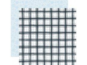 Scrapbookový papír - WINTER MARKET / Frosty Plaid