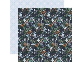 Scrapbookový papír - WINTER MARKET / Winter Floral