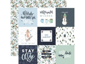 Scrapbookový papír - WINTER MARKET / 4x4 Journaling Cards