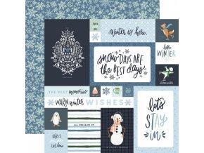 Scrapbookový papír - WINTER MARKET / 4x6 Journaling Cards
