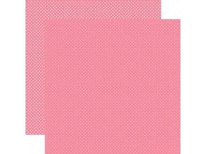 Scrapbookový papír - DOTS / Bubblegum Pink