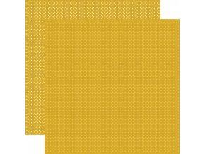 Scrapbookový papír - DOTS / Mustard