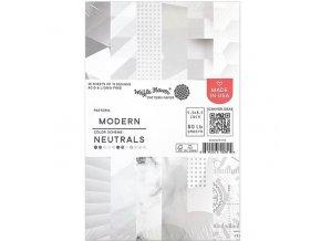 """Sada papírů 5.5"""" x 8.5"""" - Modern / NEUTRALS"""