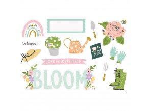Papírové ozdoby na scrapbook - BUNNIES & BLOOMS / Bloom