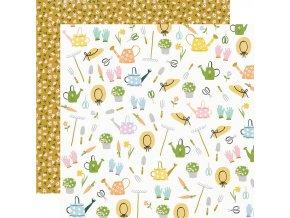 Papír na scrapbook - BUNNIES & BLOOMS / Garden Party