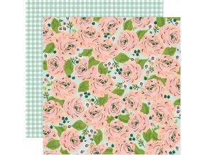 Papír na scrapbook - BUNNIES & BLOOMS / In Full Bloom