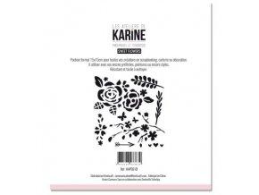 pochoir sweet flowers karine cazenave tapie