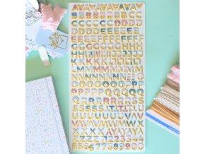 Chipboardová abeceda - PÉTALOS / Se zlatou folií