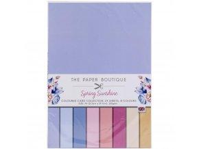 Sada jednobarevných papírů A4 - SPRING SUNSHINE