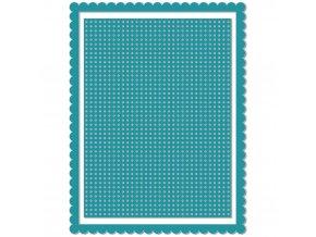VYŘEZÁVACÍ ŠABLONY - MŘÍŽKA NA VYŠÍVÁNÍ / Card Front Stitch Grid