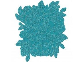 VYŘEZÁVACÍ ŠABLONA - KVĚTINOVÁ / Card Front Floral