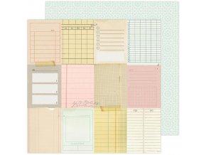 Scrapbookový papír - GARDEN PARTY / Taking Notes