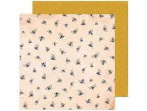 Scrapbookový papír - GARDEN PARTY / Honey Bees