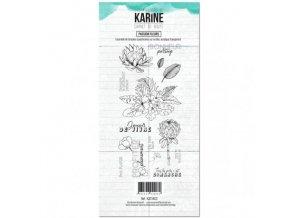 tampon clear carnet de route passion fleurs les ateliers de karine