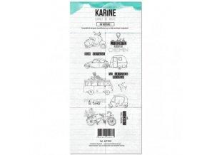 tampon clear carnet de route en voiture les ateliers de karine