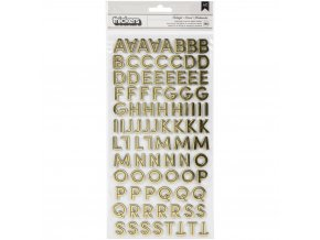 Chipboardová abeceda - SPOOOKY / Midnight
