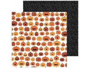 Scrapbookový papír - SPOOOKY / Pumpkin Carving