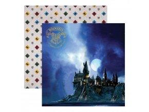 Scrapbookový papír - HARRY POTTER / Hogwarts