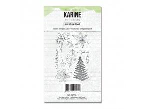 tampon transparent les ateliers de karine cahier d automne feuilles d automne