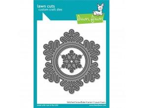 VYŘEZÁVACÍ ŠABLONY - Stitched Snowflake Frame