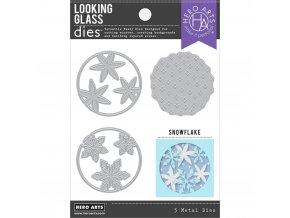 VYŘEZÁVACÍ ŠABLONY - Looking Glass Snowflake