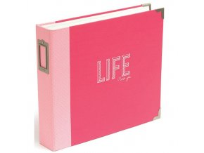 AMERICAN CRAFTS - Project Life CLOTH D-ring album - CORAL