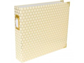Becky Higgins - Project Life D-Ring Album - HONEYCOMB CREAM & GOLD