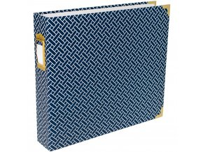 "BECKY HIGGINS - Project Life D-Ring Album 12""X12"" - NAVY WEAVE"