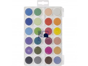 LOEW-CORNELL - Dry Pan Watercolor Paint Cakes 24/Pkg