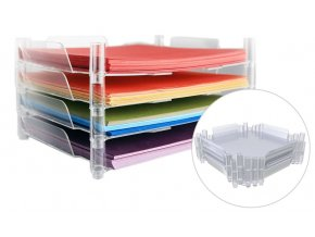 "WE R MEMORY KEEPERS - Stackable Acrylic Paper Trays - CLEAR 12""x12"""
