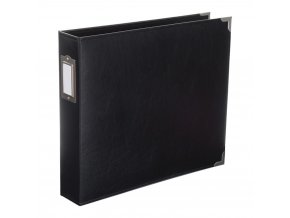 WE R MEMORY KEEPERS - Classic Faux Leather album - BLACK