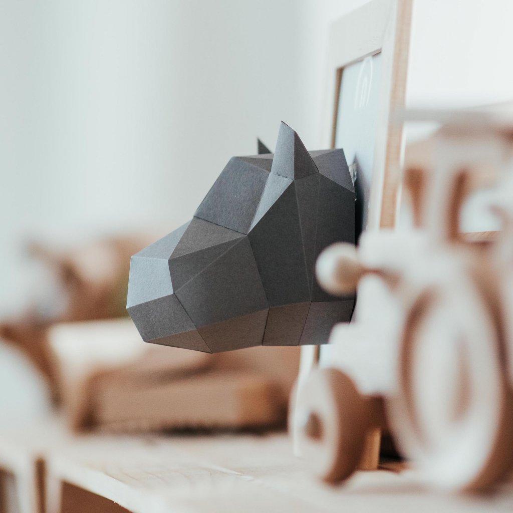 Papírová skládačka Hrošík Mini PaperTime