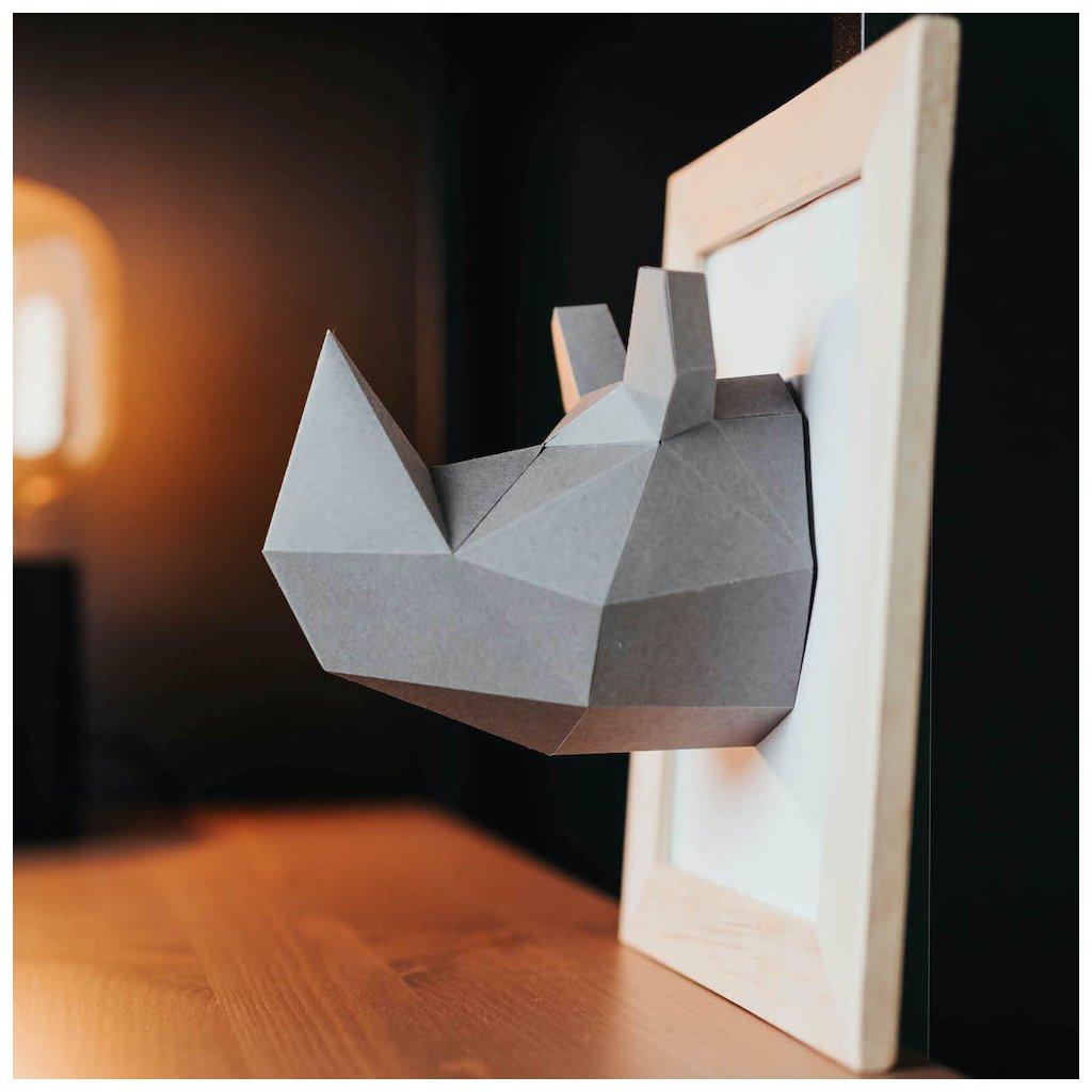 Papírová skládačka Nosorožec Mini PaperTime