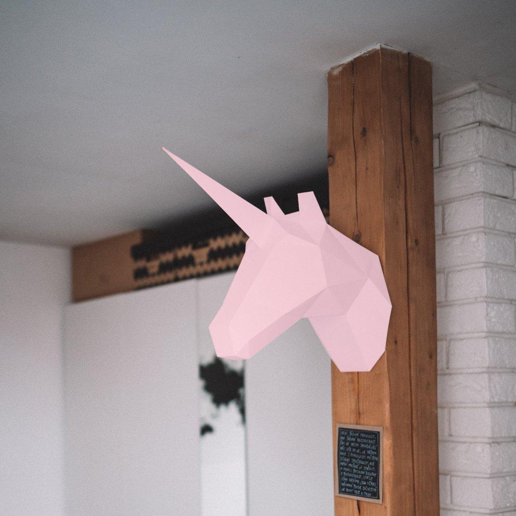 Papírová skládačka Jednorožec – růžový PaperTime