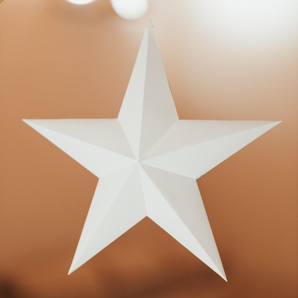 Papírová skládačka Hvězda – bílá PaperTime