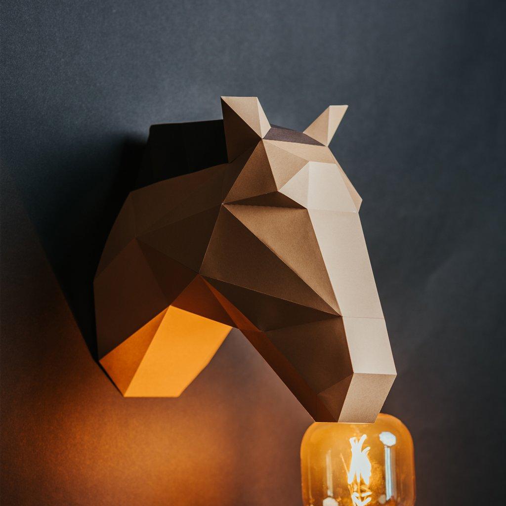 Papírová skládačka Koník – hnědý PaperTime