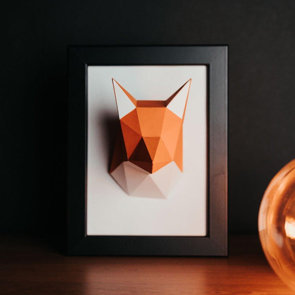 Papírová skládačka Liška Mini PaperTime