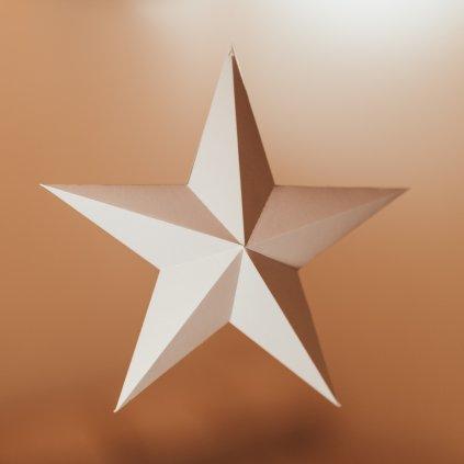 Papírová skládačka Hvězda – růžová PaperTime