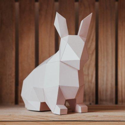 Papírová skládačka Zajíček – růžový PaperTime