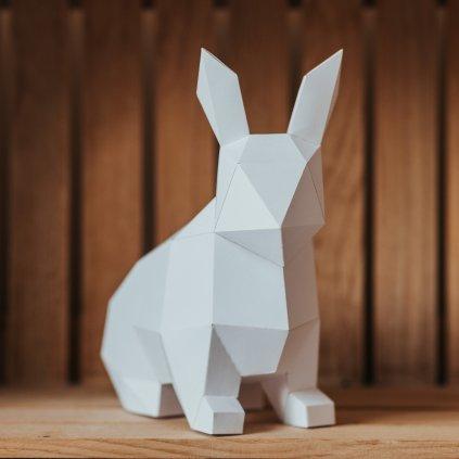 Papírová skládačka Zajíček – bílý PaperTime