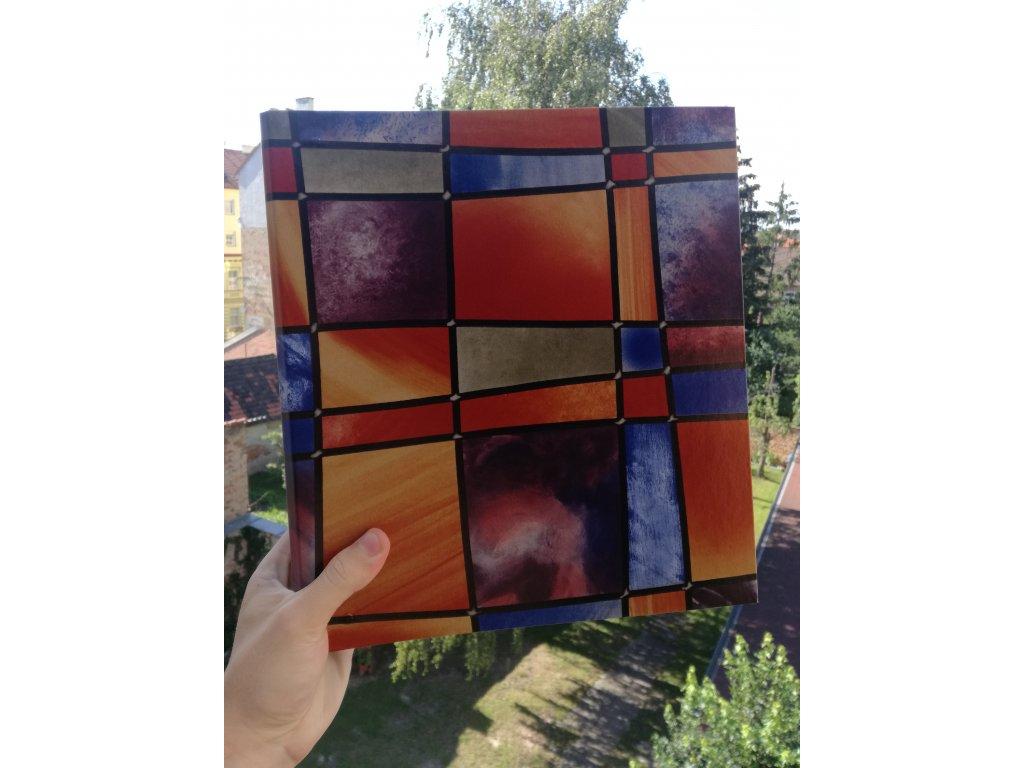 Album for postcards Colored glass - 400 postcards - 4 postcards per sheet