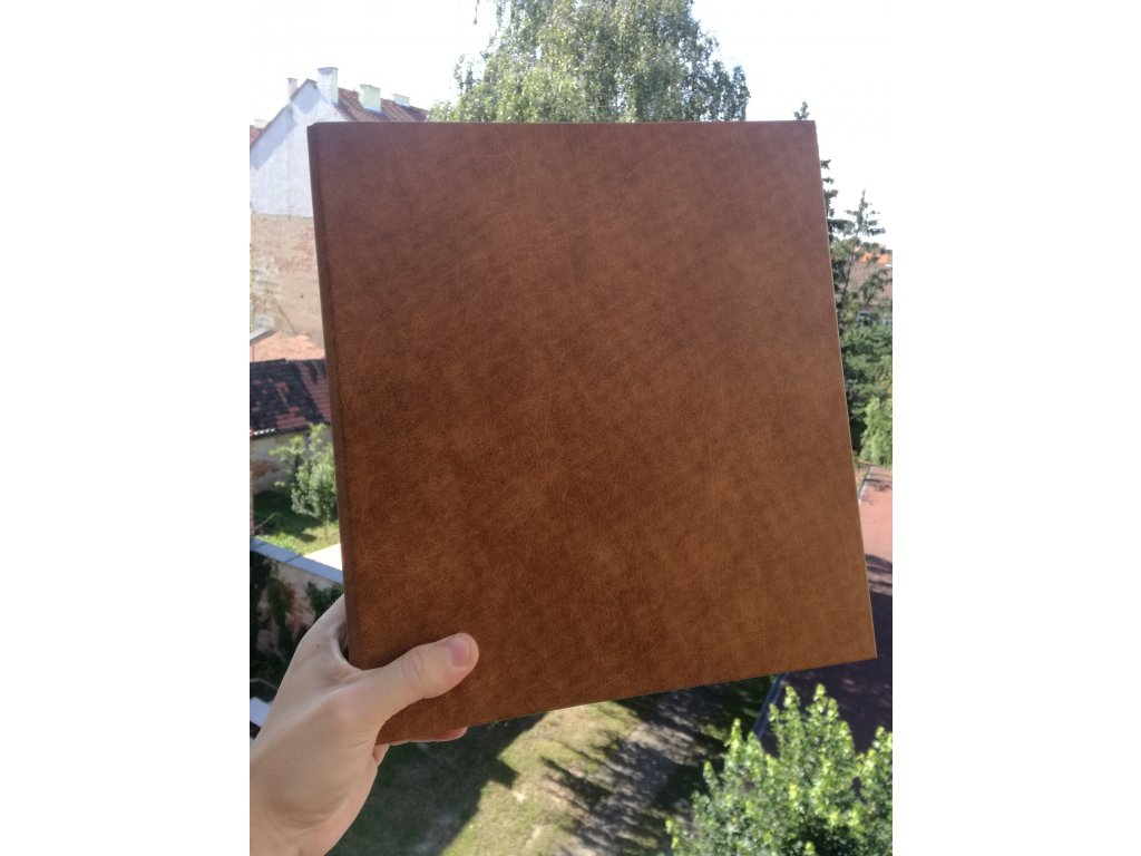 Album for postcards Leather - 400 postcards - 4 postcards per sheet